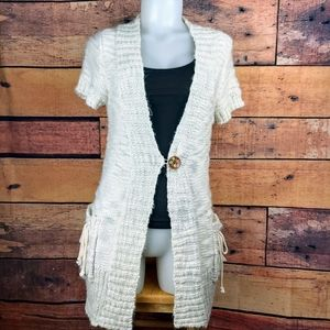 Element short sleeved cardigan size small